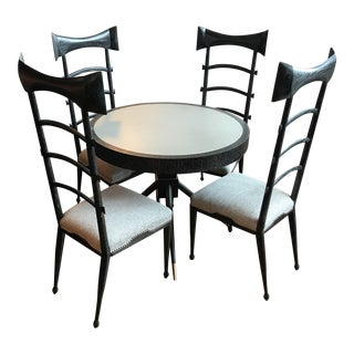 Bow Tie Table and Chairs - Set of 5 For Sale