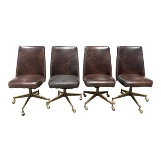 Vintage Howell's Swivel Chairs - Set of 4