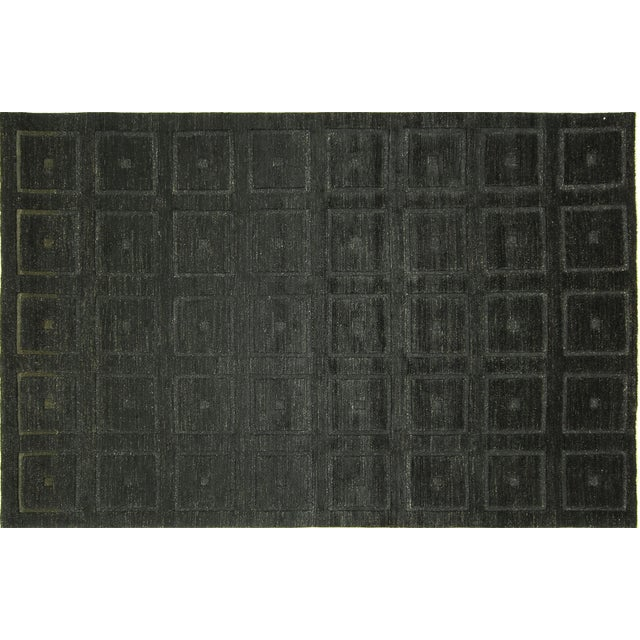 "Square Black Gabbeh Kashkuli Rug - 6'8"" x 10' - Image 1 of 10"