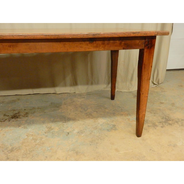 Early 19th Century Early 19th C. French Walnut Farm Table For Sale - Image 5 of 8