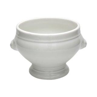 Vintage French Porcelain Lion Head Bowl For Sale