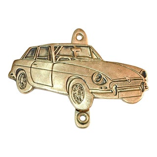 """MG"" Car Vintage Brass Door Knocker"