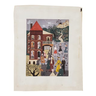 """Room for Rent"" Original Illustration by Sally Eppenstein C.1941 For Sale"