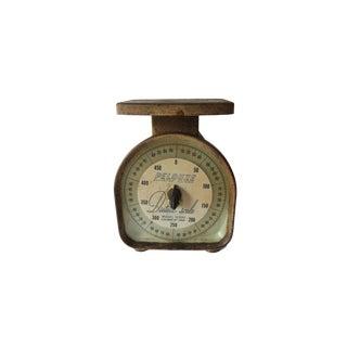 Vintage Pelouze Rustic Metal Kitchen 500 Gram Food Dietetic Scale