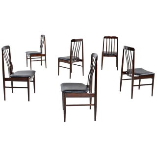 Skovby Danish Modern Rosewood Dining Chairs - Set of 6 For Sale