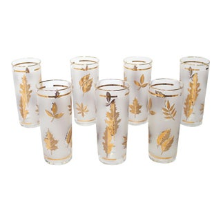 Vintage Tom Collins or Iced Tea Glassware - Set of 7 For Sale