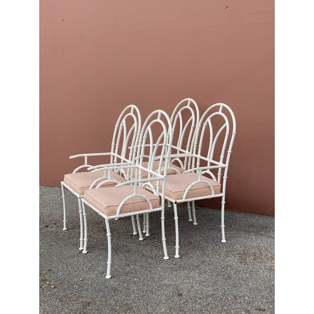 Mid 20th Century Vintage MCM Kessler Cast Aluminum Dining Chairs - Set of 4 For Sale - Image 5 of 7