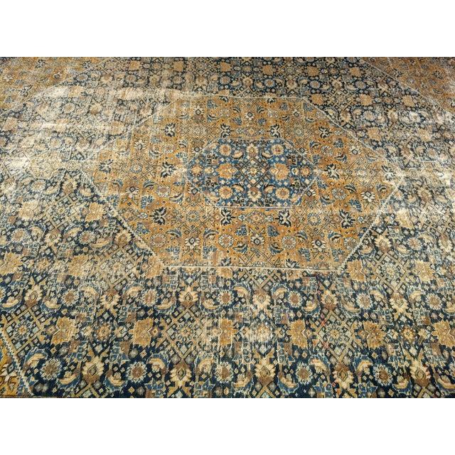 Textile 1920s Vintage Persian Tabriz Rug - 9′4″ × 12′7″ For Sale - Image 7 of 13