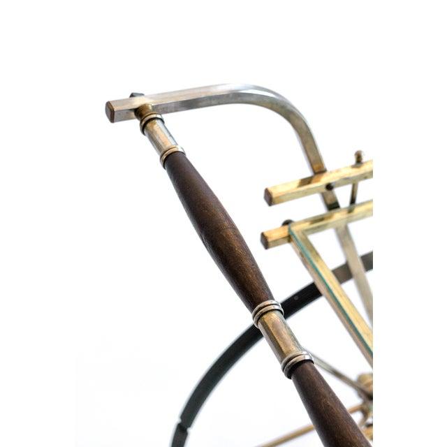 Italian Brass Bar Cart - Image 3 of 7