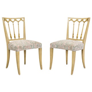 Italian Neoclassical Side Chairs, a Pair