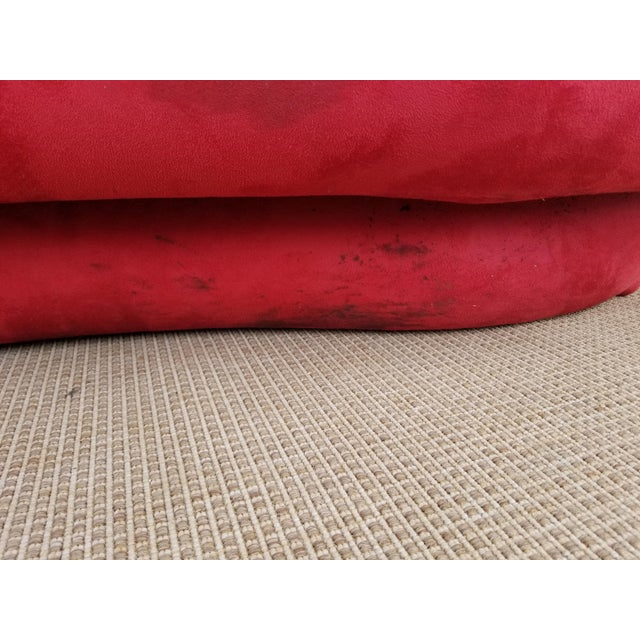 Red 1980s Mid-Century Modern Adrian Pearsall for Comfort Red Curved Sofa For Sale - Image 8 of 12