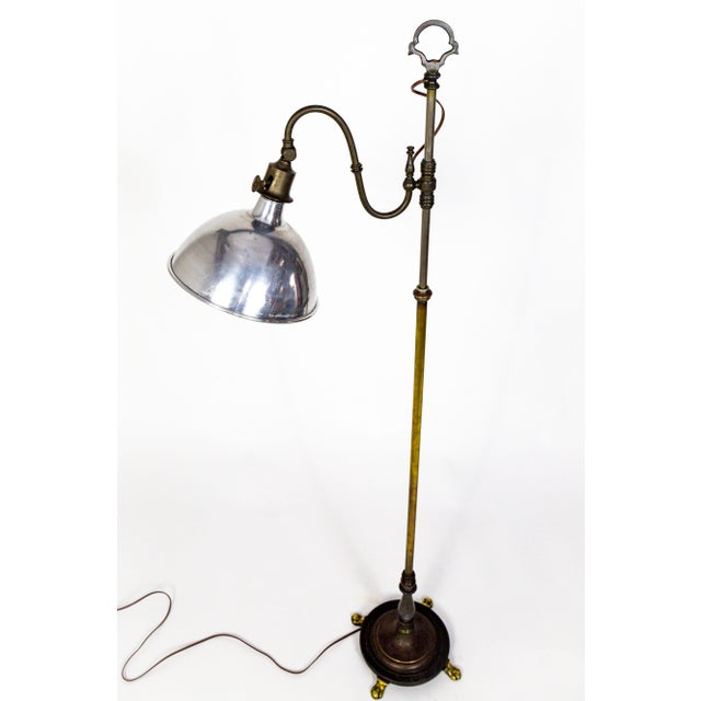 Art Deco 1930's Adjustable Paw Foot Floor Lamp For Sale - Image 3 of 11