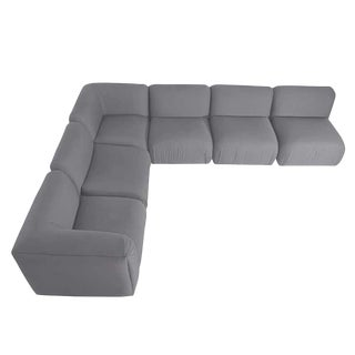 Milo Baughman Gray Upholstered Sectional Sofa for Thayer Coggin For Sale