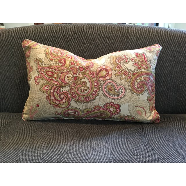 Paisley Tapestry Lumbar Pillow For Sale - Image 4 of 4