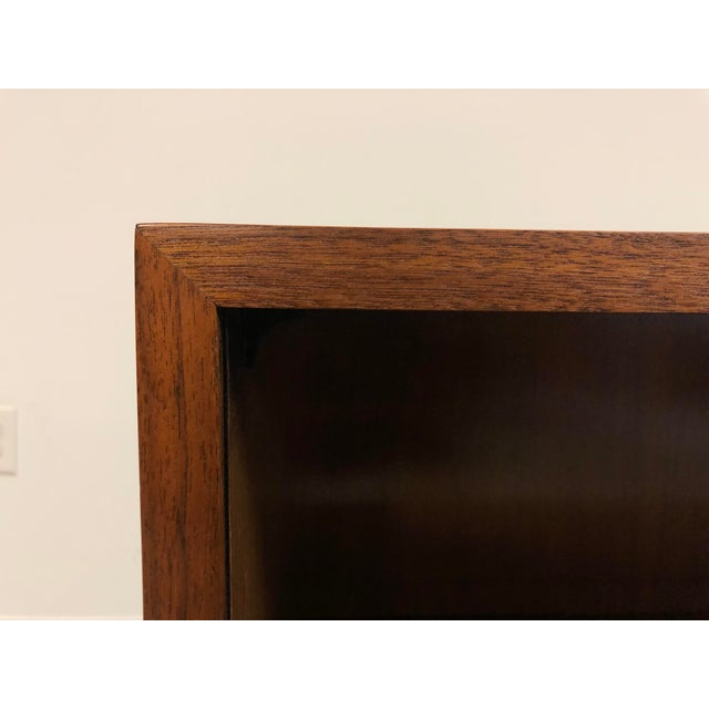 1950s Walnut Mid Century Modern Bookcase For Sale - Image 5 of 8