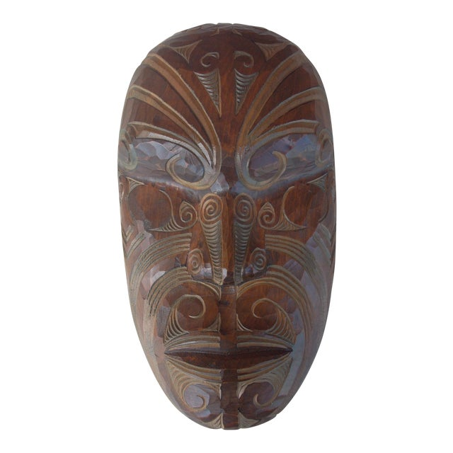 Carved Wooden Face - Image 1 of 5