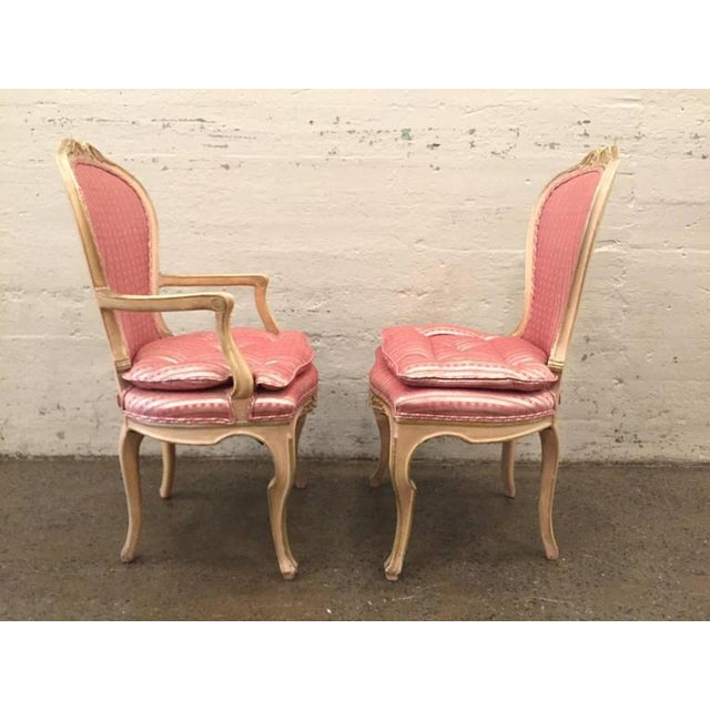 French Set of Eight Louis XVI Style Painted Dining Chairs For Sale - Image 3 of 8