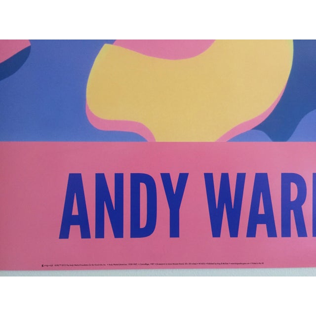 """Andy Warhol Original Lithograph Pop Art Poster """"Pink Camouflage"""" 1987 For Sale - Image 10 of 10"""