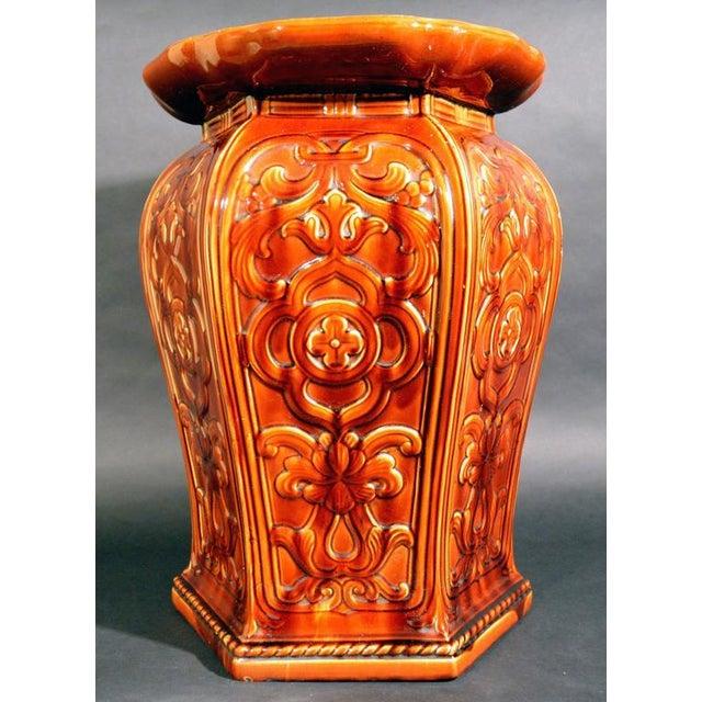 Augustus Welby Pugin Minton Arts & Crafts Majolica Garden Seat For Sale In New York - Image 6 of 6