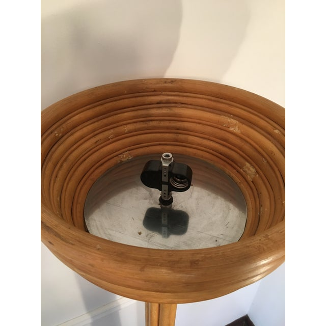 Paul Frankl Style Vintage Rattan Torchiere Lamp For Sale - Image 6 of 7