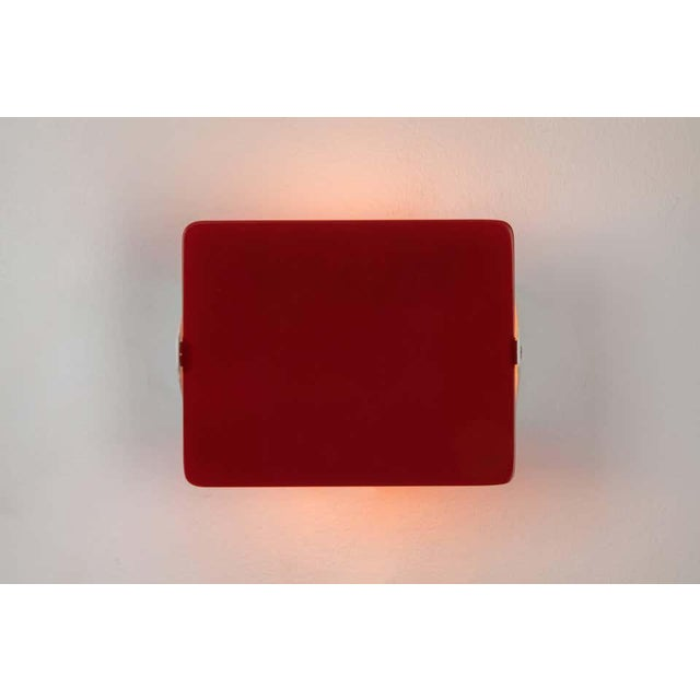 Mid-Century Modern Charlotte Perriand Red Cp1 Wall Lights - a Pair For Sale - Image 3 of 8