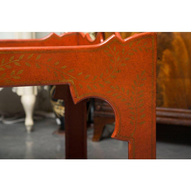 Painted, Decorated, and Lacquered Tray Table For Sale In West Palm - Image 6 of 10