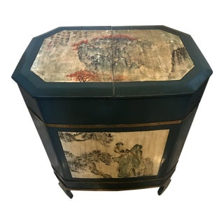 Antique Hand Painted Asian Chest For Sale
