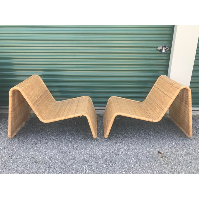 Mid-Century Modern Tito Agnoli P3 Wicker Lounge Chair For Sale - Image 3 of 10