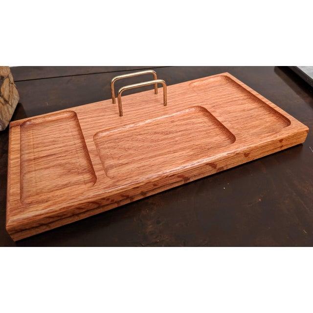 Boho Chic Organic Modern Oak + Brass Desk Valet For Sale In Dallas - Image 6 of 6