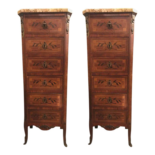 19th Century Louis XV Style Lingerie Chests - A Pair For Sale