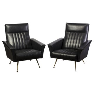 Mid-Century Modernist Armchairs by Zanuso - Pair For Sale