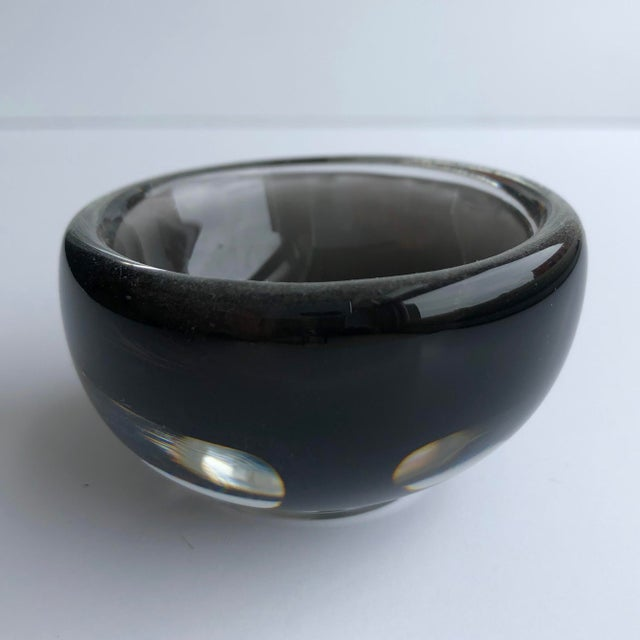 Modern Black Glass Mini Bowl For Sale - Image 4 of 4