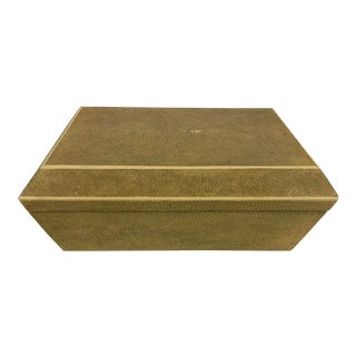 R & Y Augousti Pairis Shagreen Box For Sale