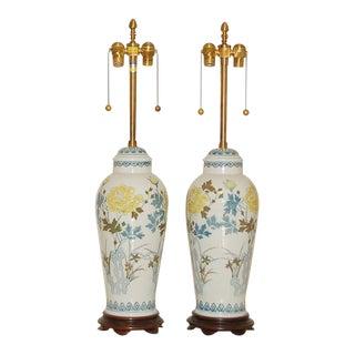 Marbro Italian Porcelain Table Lamps For Sale
