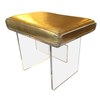 Charles Hollis Jones Lucite Bench