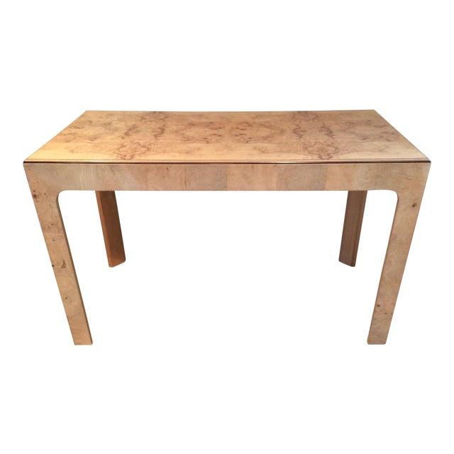 Parsons Style Burlwood Henredon Desk For Sale