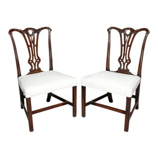 Mid 18th Century George III Mahogany Side Chairs - a Pair For Sale