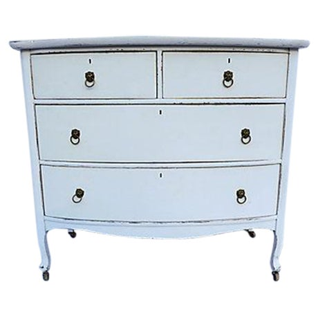 Antique Distressed White Painted Oak Dresser - Image 1 of 6