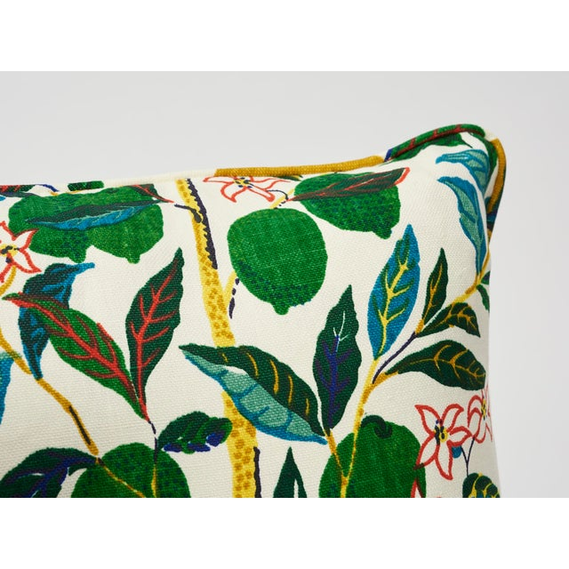 Contemporary Schumacher Double-Sided Pillow in Citrus Garden Primary Linen Print For Sale - Image 3 of 8