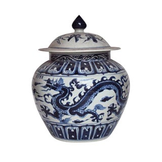 Ginger Jar With Dragon Motif For Sale