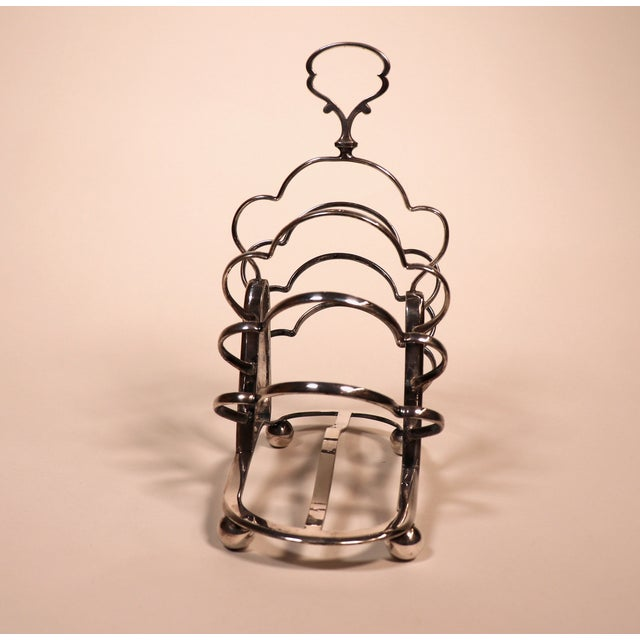 1950's English Silver Plated Toast Rack For Sale In Chicago - Image 6 of 13