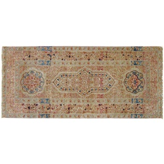 Late 19th Century Antique Persian Tabriz Hadji Jalili Oriental Rug - 1′9″ × 4′1″ For Sale