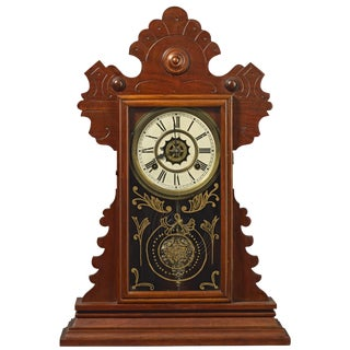 19th Century Traditional Waterbury Clock Co. Gingerbread Clock For Sale