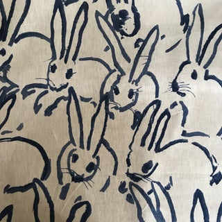 Hunt Slonem Designs for Groundworks Bunny Fabric For Sale
