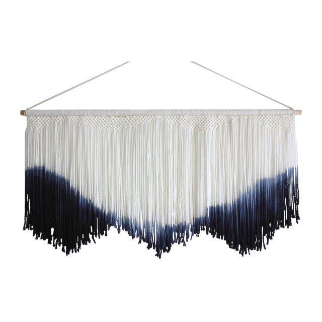 Hand Dyed Macrame Tapestry - Image 1 of 4
