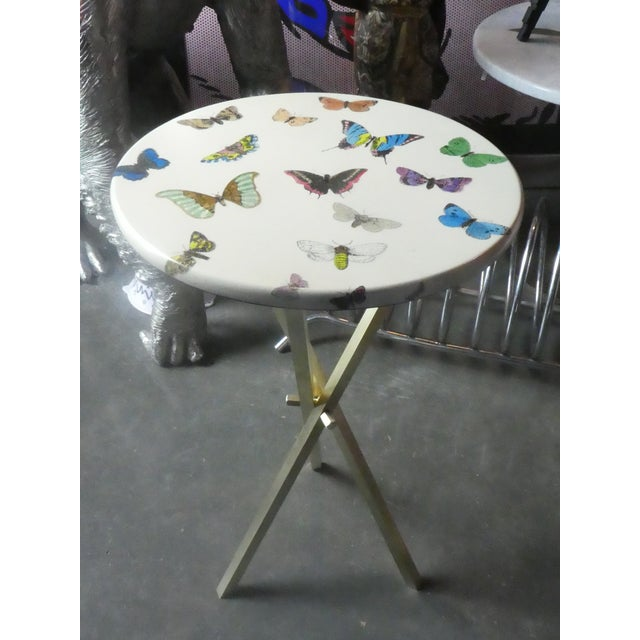 1960s Vintage Fornasetti White Butterfly Occasional Table For Sale - Image 12 of 13