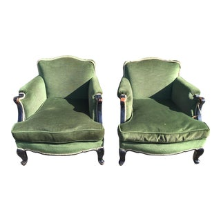 Early 20th Century Vintage Napoleon Bergere Chairs- A Pair For Sale
