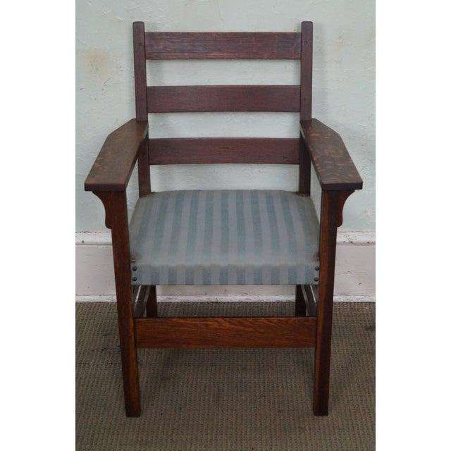Store Item #: 14538 Gustav Stickley Antique Mission Oak Set of 6 Dining  Chairs AGE - Gustav Stickley Antique Mission Oak Set Of 6 Dining Chairs Chairish