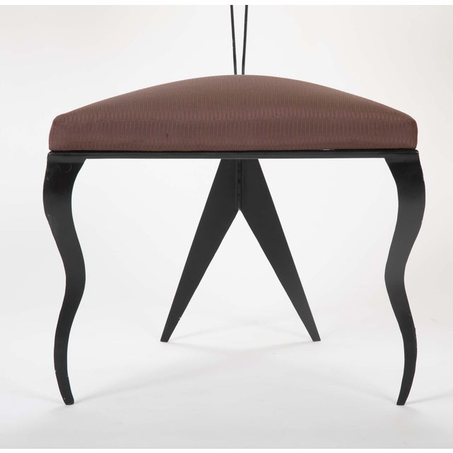 Metal Upholstered Steel Frame Chairs by Joaquin Gasgonia Palencia - Set of 4 For Sale - Image 7 of 13