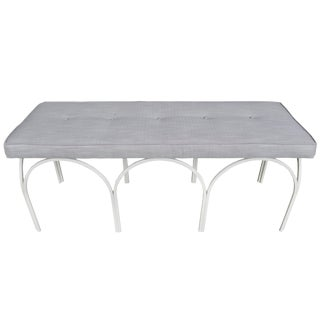 Mid-Century Modern Upholstered Bench by Frederick Weinberg For Sale
